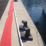 Pose d'un enrouleur hydraulique sur voilier de 40 m acier